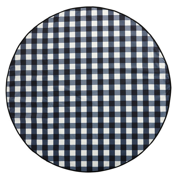 Love Rug - Gingham Black