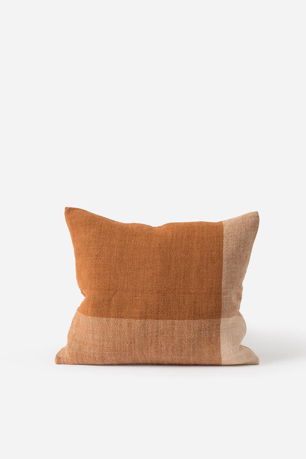 Chester Linen Cushion Chestnut/Macaroon 55x45cm