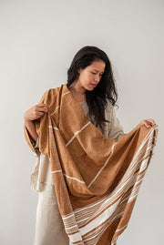Hand Woven Throw  Clay