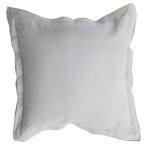 French Frill Cushion - Light Grey