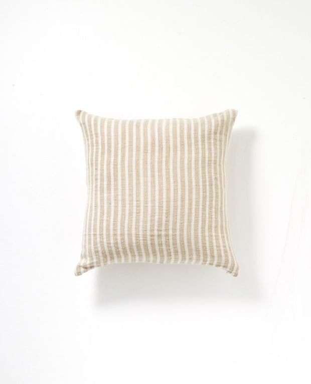 Christophe Linen Cushion- Natural Stripe