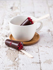 Hot Chocolate Stirrer with Raspberry