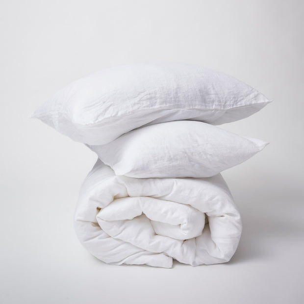 Linen Duvet Set White