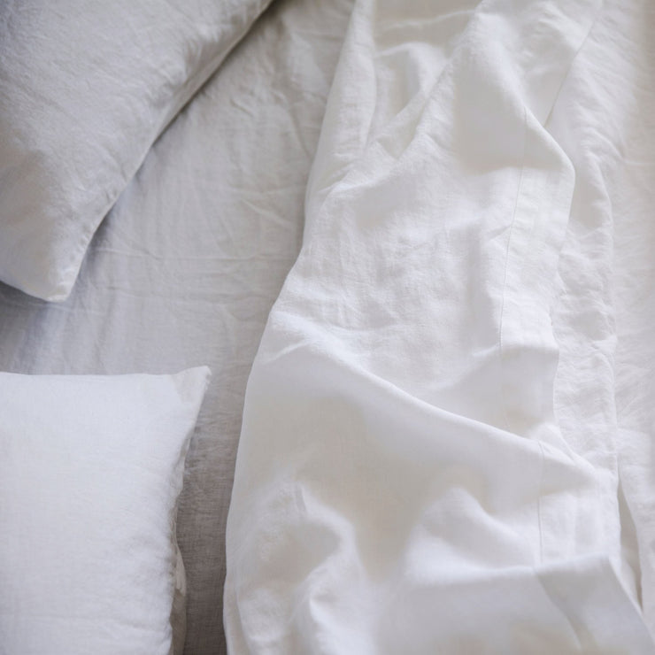 Linen Sheet Set White