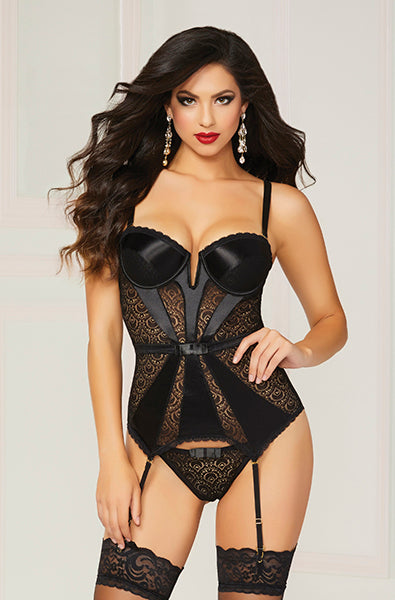Satin and Lace Bustier