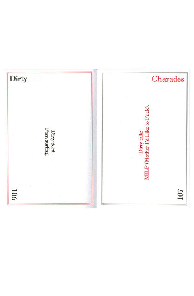 Dirty Charades Game