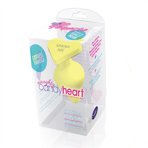 Naughty Candy Heart in Yellow - thewhiteunicorn