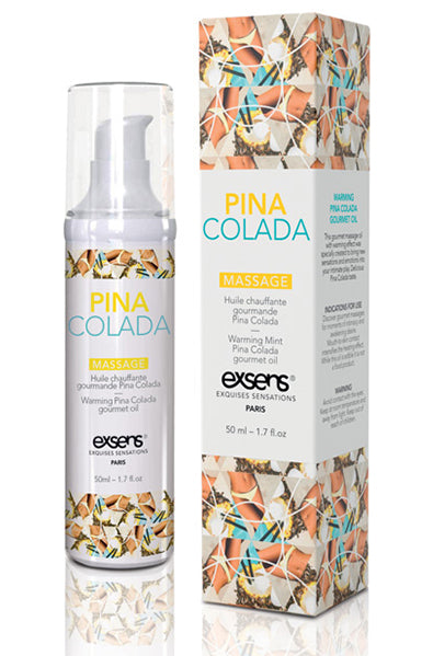 EXSENS of Paris Warming Massage Oil in Pina Colada