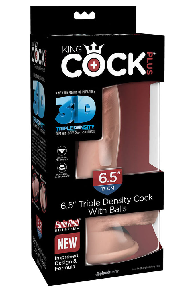 "King Cock Plus Triple Density 6.5"" Cock With Balls"
