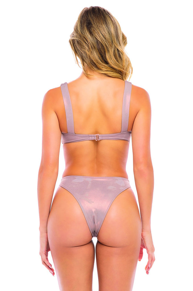 Mykonos Monokini Swimsuit in Rose Gold