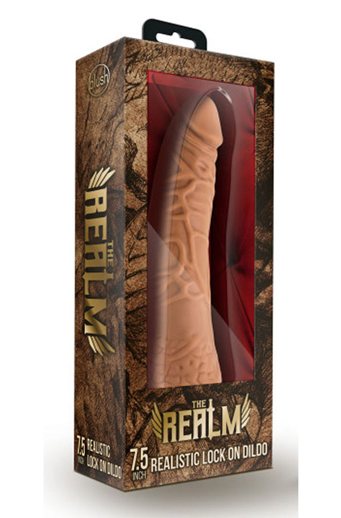 The Realm - Realistic 7.5 Inch Lock on Dildo