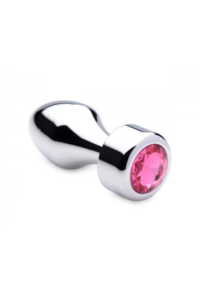 Weighted Small Hot Pink Gem Anal Plug