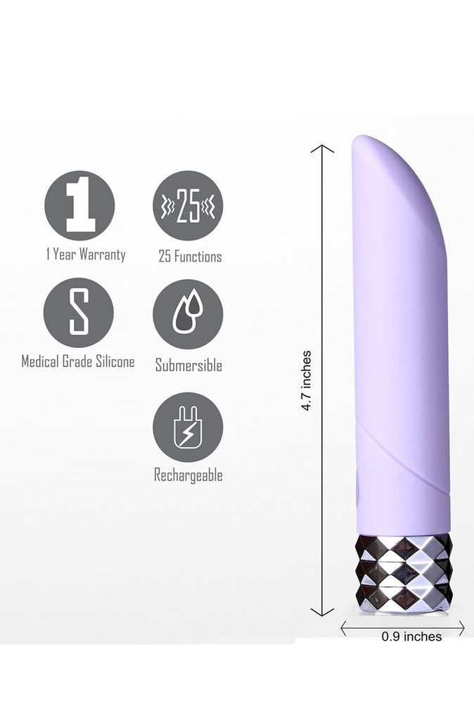 Angel Crystal Gems Vibrator in Purple