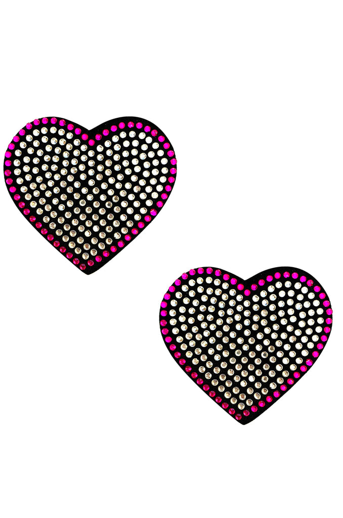 Rhinestone Heart Reusable Pasties