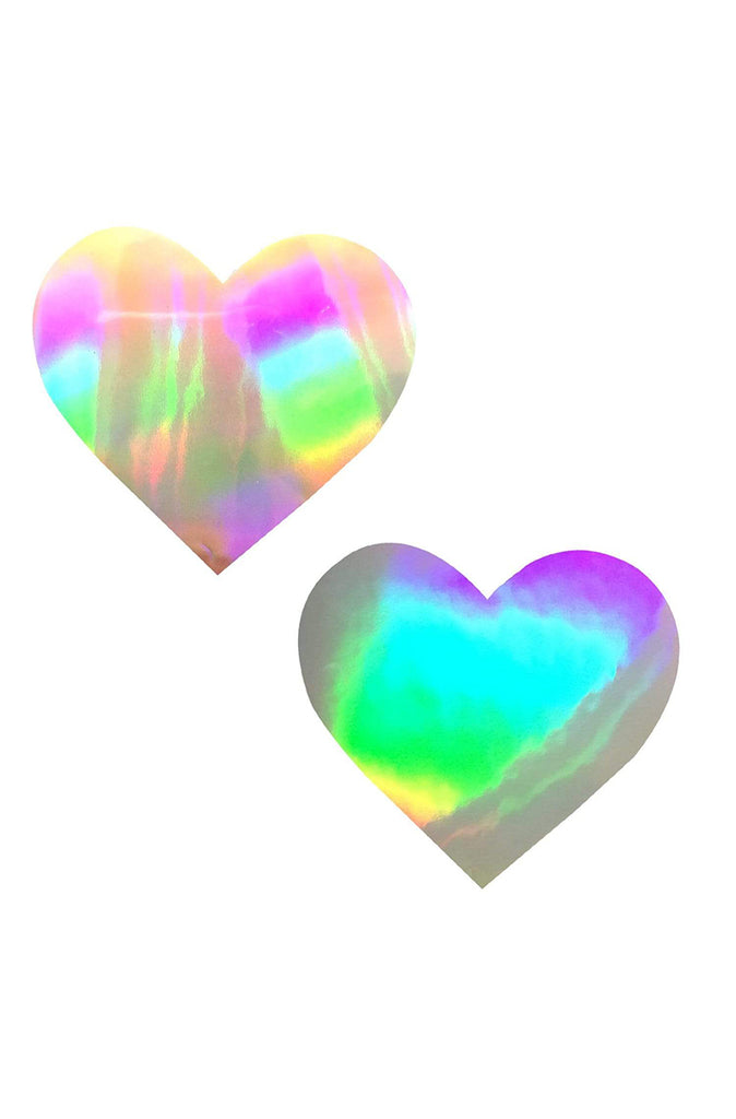 Care Bare Stare Holographic I Heart U Pasties