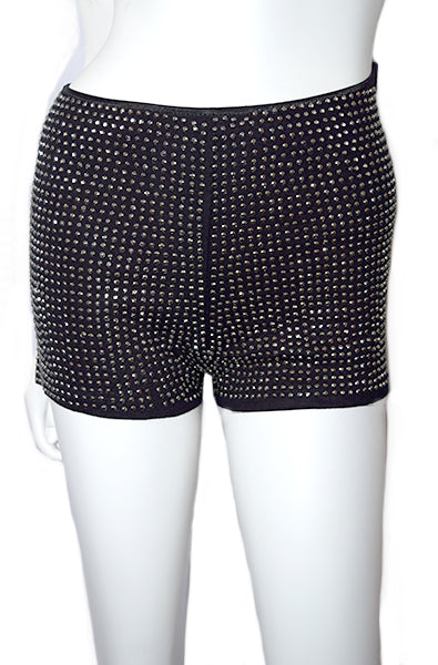 Rhinestone High Waist Shorts