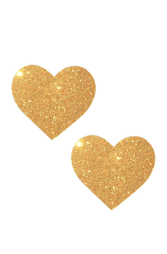 Gold Fairy Dust Glitter I Heart U Pasties