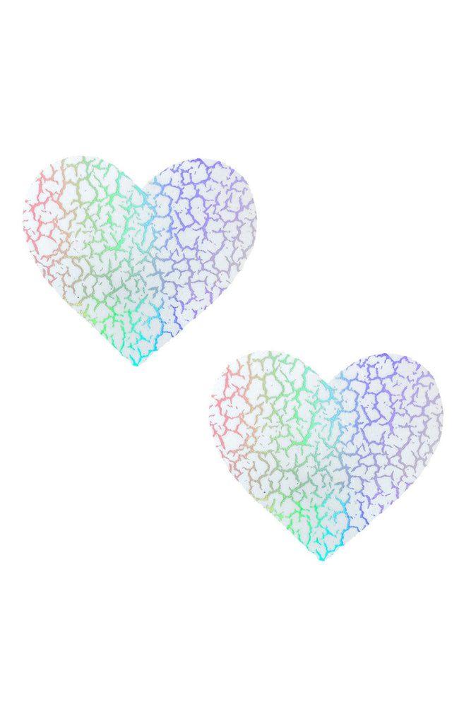Glow Dark Synaptic Storm Holographic I Heart U Pasties