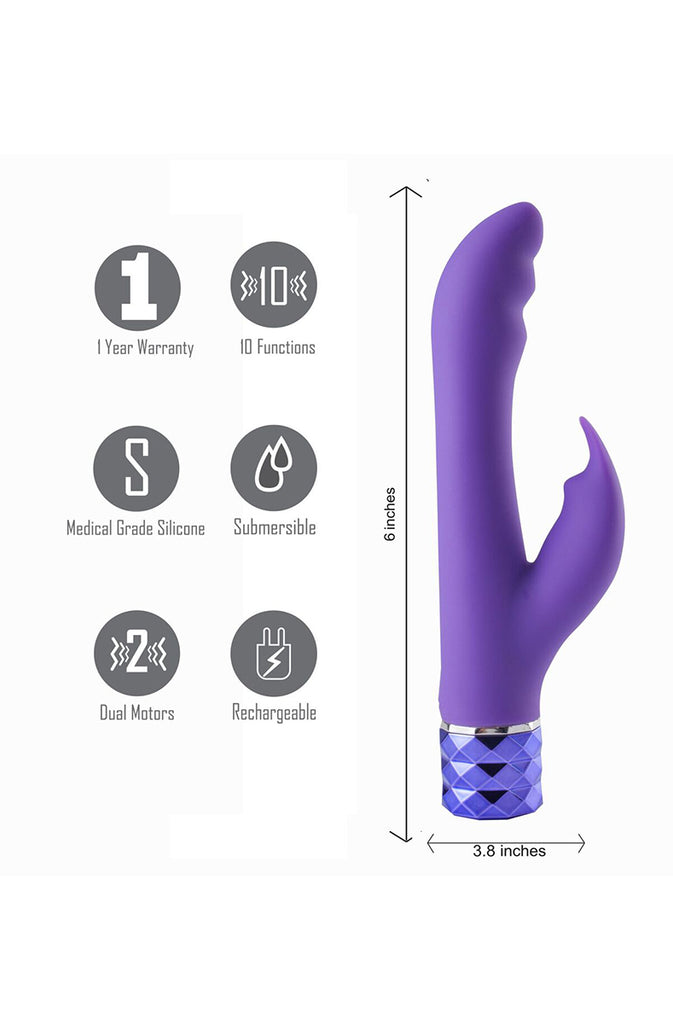 Hailey Silicone Rabbit in Purple