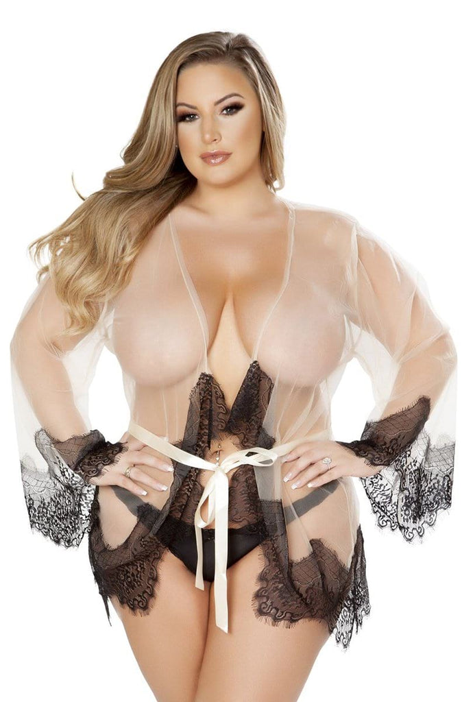 Sheer Robe in Nude