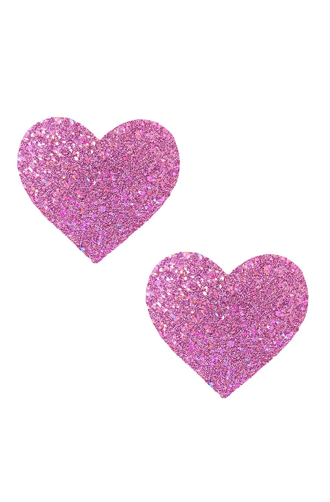 Pegasus Kisses Purple Pink Iridescent Glitter Heart Pasties