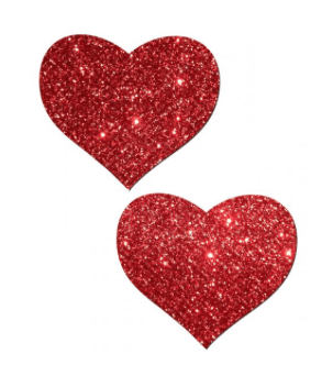 Heart Red Glitter Pasties - thewhiteunicorn
