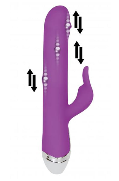 Dancing Pearl Rabbit Vibrator in Purple