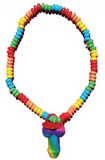 Rainbow Cock Candy Necklace