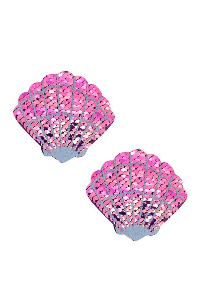 My Lil Pony Iridescent Pink Sequin  Mermaid Shell Pasties