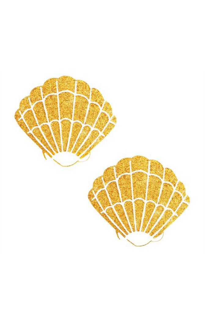 Gold Fairy Dust Glitter Mermaid Shell Pasties