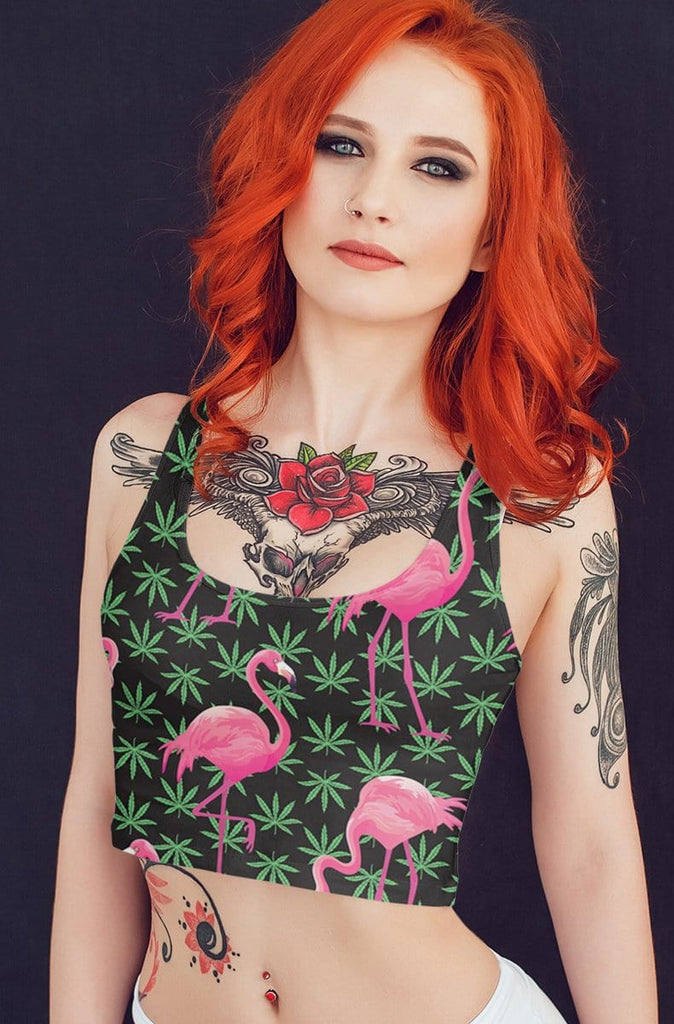 Smoking Flamingo Crop top
