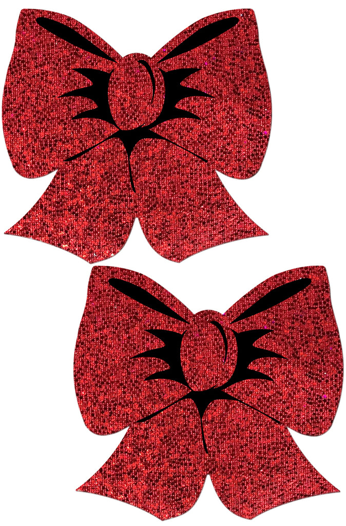 Holographic Red Bows Pasties