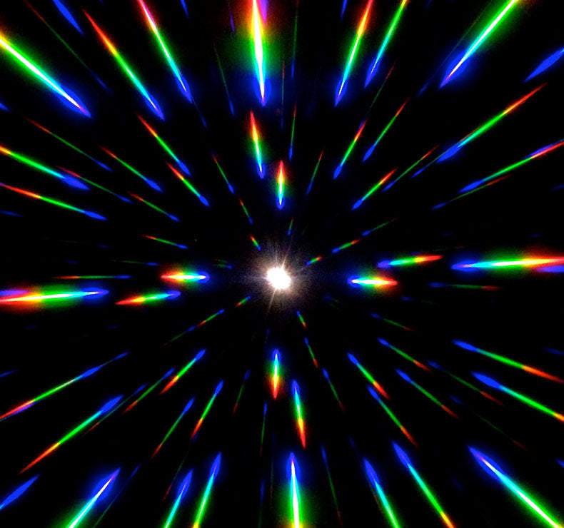 Gold Mirror Diffraction Glasses in Transparent Rainbow