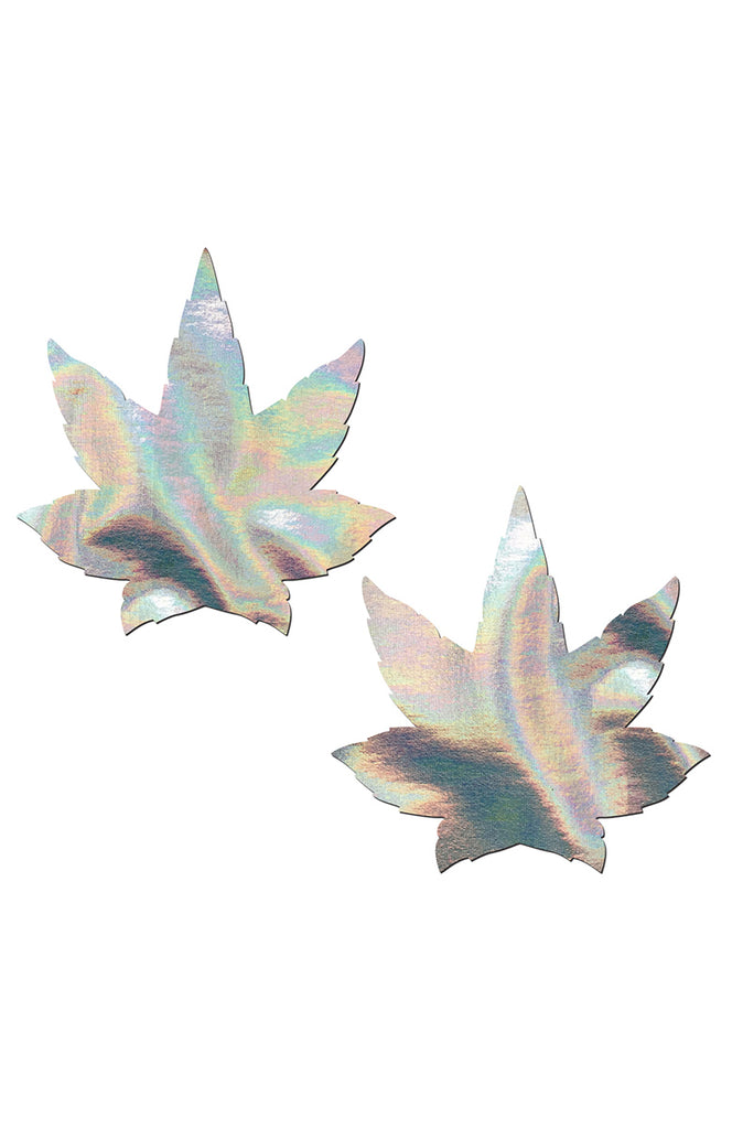 Silver Holographic Weed Pasties
