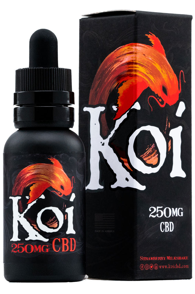 Koi CBD Vape Juice in Classic Strawberry Milkshake