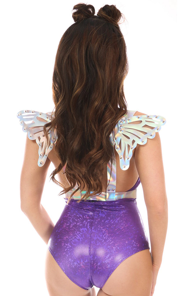 Harness with Small Wings in Silver Holo