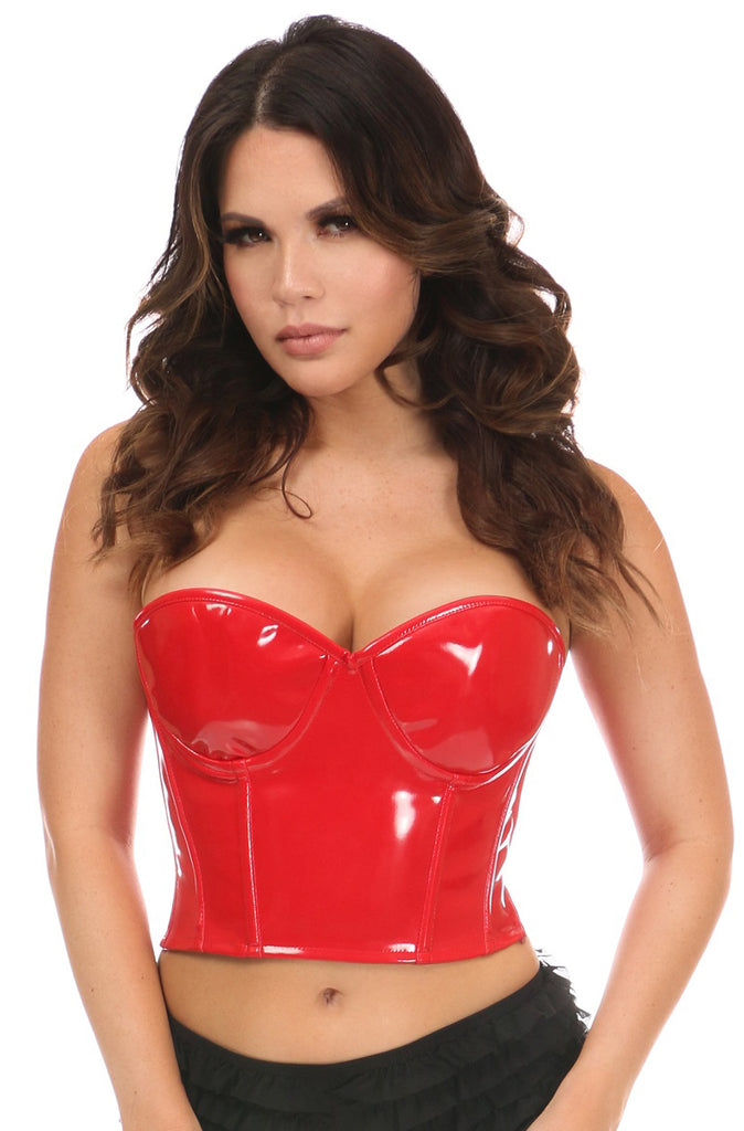 Red Patent PVC Underwire Bustier