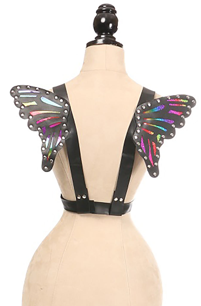 Vegan Leather & Rainbow Small Butterfly Wings