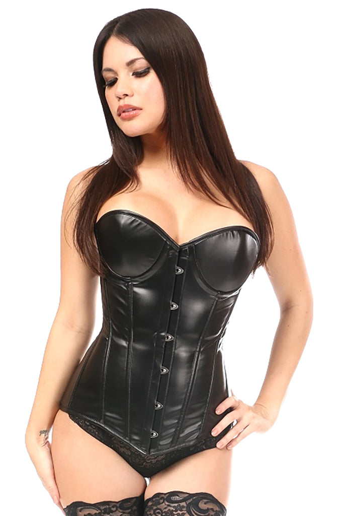 Wet Look Underwire Corset