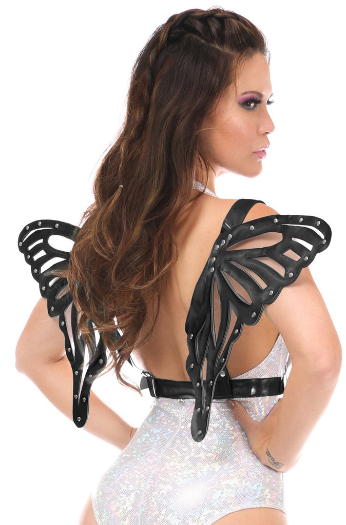 Black Patent Butterfly Wings