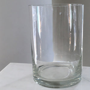 Product image of Cylinder Glass Vase by Action Imports. Color: Clear. View: Front.