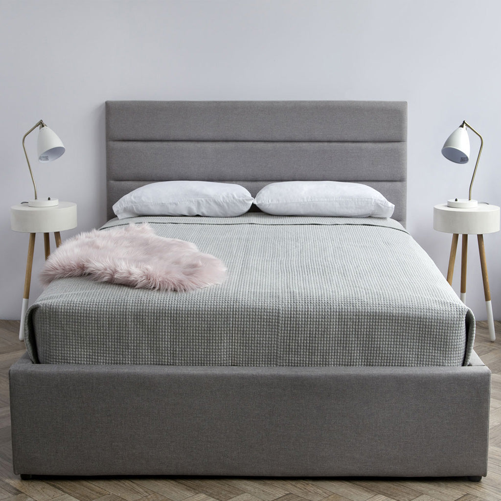 Product image of the Justin Storage Bed by Style In Form. Shown in greige. View: Front. Buy NOW online at blueigloo.ca or click for more info.