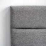 Load image into Gallery viewer, Product image of the Justin Storage Bed by Style In Form. Shown in greige. View: Close up of headboard showing fabric colour and texture. Buy NOW online at blueigloo.ca or click for more info.
