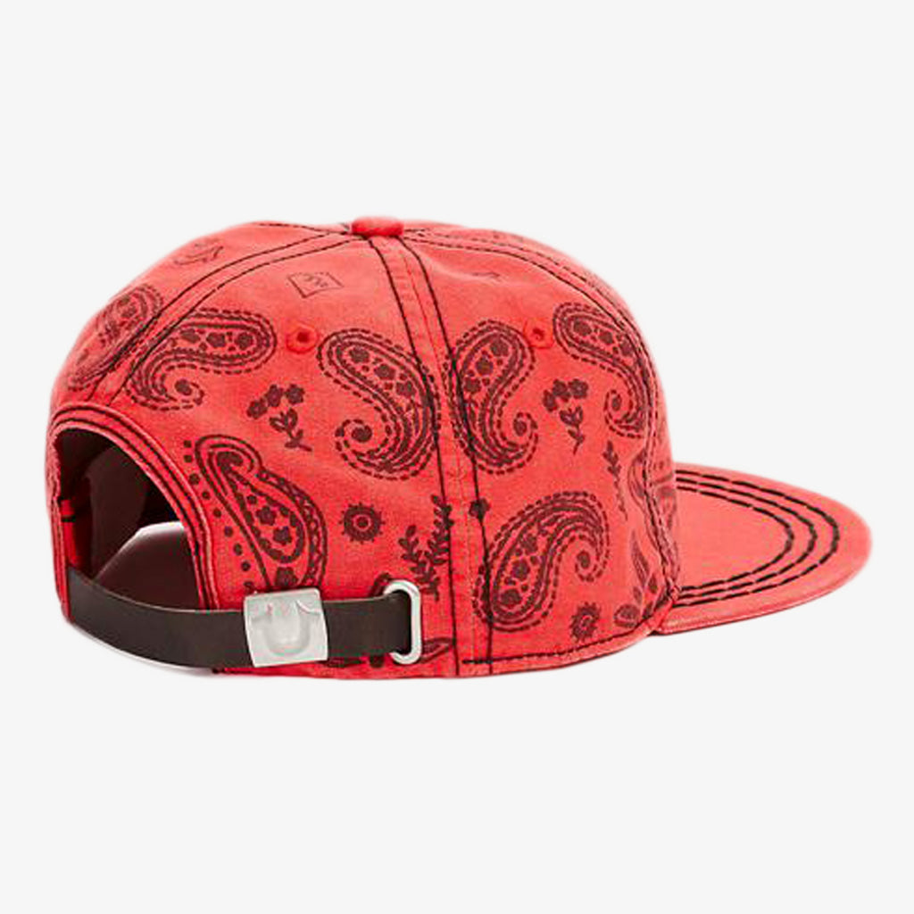 Product image for TRUE RELIGION Bandana Cap, Style: TR2122, Color: True Red, Size: OS, back view.