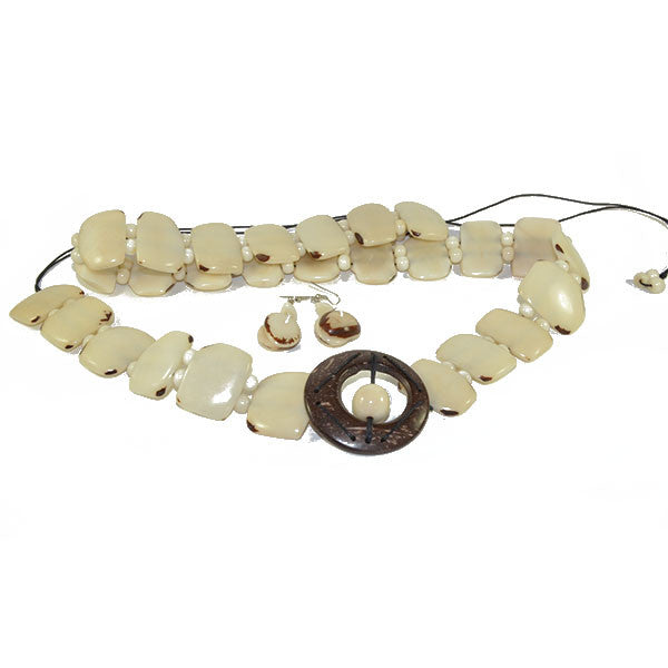 Tagua Belt & Earrings