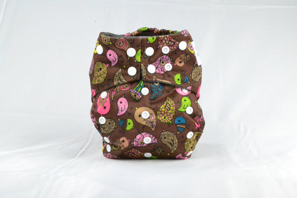 Earthlie Cloth Diaper - Birds