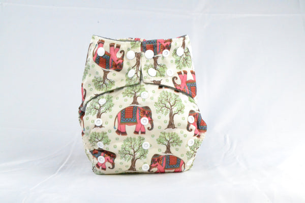 Earthlie Cloth Diaper - Elephants