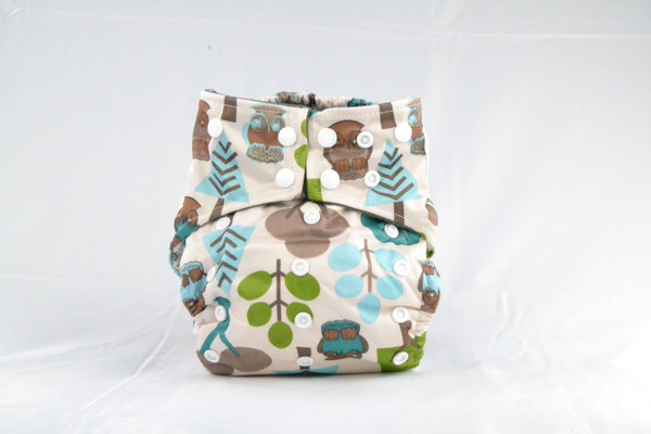 Earthlie Cloth Diaper - Forest