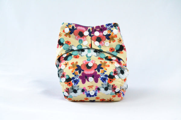 Earthlie Cloth Diaper - Flowers