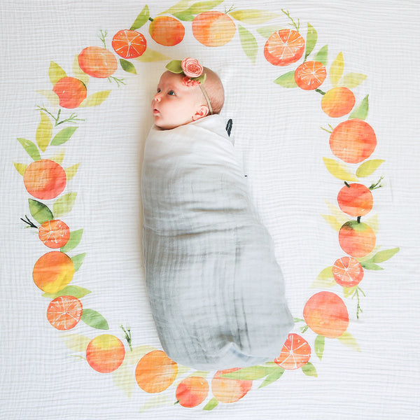 Grey Stone - Organic Swaddle Blanket